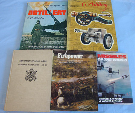 6 x Books on Artillery & Fireworks By Various Authors. 6 x Books on Artillery & Fireworks By Various Authors. Accessories