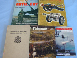 6 x Books on Artillery & Fireworks By Various Authors. 6 x Books on Artillery & Fireworks By Various Authors.
