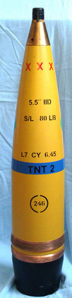 British 5.5 Inch 80Lb High Explosive Projectile British 5.5 Inch 80Lb High Explosive Projectile Accessories