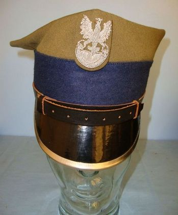 1935 Pattern Polish Army Mechanized Troops & National Honour Guard Rogatywka Gar Garrison Cap Accessories