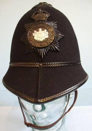 Manchester City Police Male Constable's/ Sergeant's 2 Panel Helmet With Night Pl Kings Crown Manchester City Police Male Constable's/ Sergeant's 2 Panel Helmet W Accessories