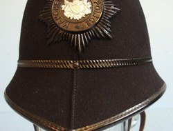 Manchester City Police Male Constable's/ Sergeant's 2 Panel Helmet With Night Pl Kings Crown Manchester City Police Male Constable's/ Sergeant's 2 Panel Helmet W