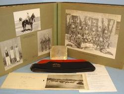 1930's Official Regimental Photograph Album, A Field Service Cap & A Cigarette C 1930's Official Regimental Photograph Album, A Field Service Cap & A Cigarette C