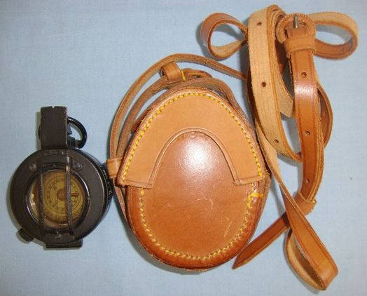 T.G. & Co Ltd London British Officer's MK III Military Compass By TG & Co Ltd London With WW2 1944 Le Accessories