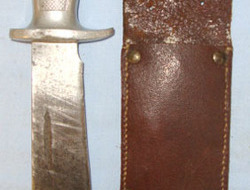 French Indo China / Vietnam War Era Aluminium Handled Combat Dagger & Scabbard.  Knives