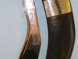 British Officer's Gurkha Presentation Kukri With Buffalo Horn Grip, Chromed Lion  Other Blades