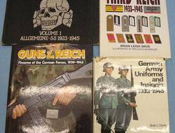 3rd Reich Uniforms, Badges and Guns. BOOKS x 4 3rd Reich Uniforms, Badges and Guns. BOOKS x 4
