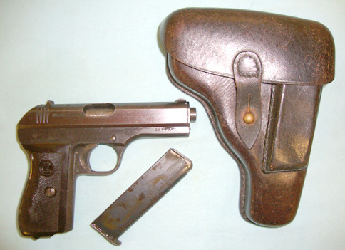 CZ  - Ceska Zbrojovka Model 27 7.65 mm Semi Automatic Pistol (fnh) And Holster. Pistol / Hand Guns