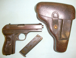 CZ  - Ceska Zbrojovka Model 27 7.65 mm Semi Automatic Pistol (fnh) And Holster. 7.65 mm