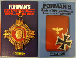 '2 Volumes of 'Formans Guide To Third Reich German Awards and Their Values' Book '2 Volumes of 'Formans Guide To Third Reich German Awards and Their Values' Book