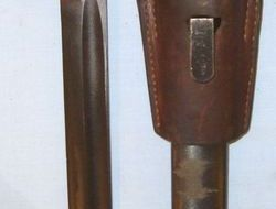 Czech Army M1924 Bayonet For Mauser Type Rifles & Scabbard With Leather Frog.  Bayonets