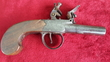 English flintlock boxlock pocket pistol by William Jover of London. Ref 8931   Muzzleloader for sale