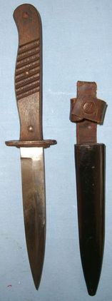 Ern Wald Rheinl, Rasiermesser Fabrik Imperial German WW1 Fighting/Trench Knife &  Blades