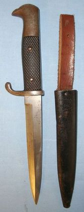 Eickhorn, Solingen Inter World War German Trench Dagger/Knife & Scabbard With In  Blades
