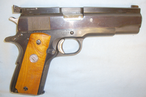Colt MK IV Series 70 'Government Model' 9mm Luger Calibre Semi Automatic Pistol With  Pistol / Hand Guns