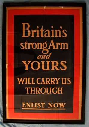 1914 British Government Parliamentary Recruiting Committee Recruitment Poster No 1914 British Government Parliamentary Recruiting Committee Recruitment Poster No Accessories
