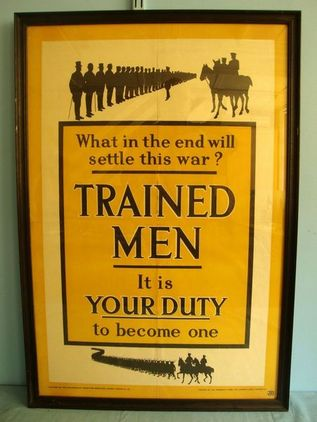 WW1 British Government Parliamentary Recruiting Committee Recruitment Poster No. WW1 British Government Parliamentary Recruiting Committee Recruitment Poster No. Accessories
