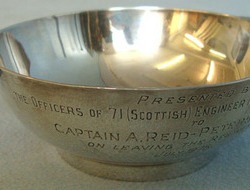 Silver Regimental Scottish Drinking Cup To Scottish Volunteer Engineer Regiment. Silver Regimental Scottish Drinking Cup To Scottish Volunteer Engineer Regiment.