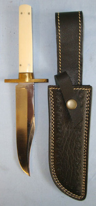 Fred James Sheffield Hand Made 'The Americans Pride' Bowie Knife With Etched Bla  Blades