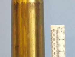 Dutch Factory Crimped 6pr7cwt (57x441R)High Explosive Trace (HET) Round Post WW2 INERT Dutch Factory Crimped 6pr7cwt (57x441R)High Explosive Trace (HET)