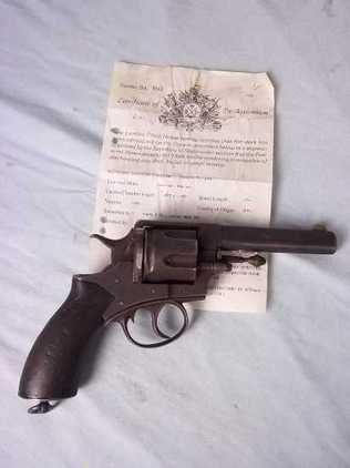 An old specification 1880  Pistol / Hand Guns