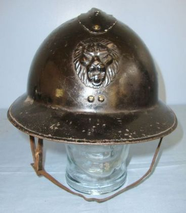 Belgian Infantry 1926 French Pattern WW2 era Belgian Infantry 1926 French Pattern 'Adrian' Combat Helmet  Accessories