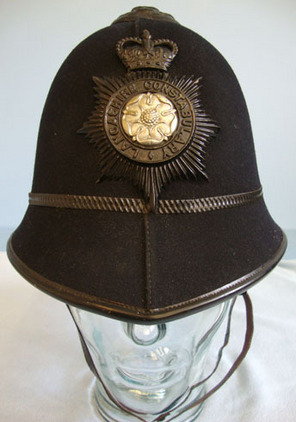 Post 1953 Lancashire Constabulary Male Constable Post 1953 Lancashire Constabulary Male Constable's/ Sergeant's 2 Panel Helmet Wi Accessories