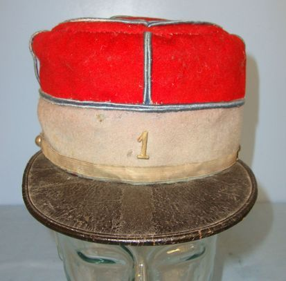 French Army Officer WW1 Era French Army Officer's Kepi With Number '1' Cap Badge Accessories