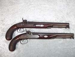 Pair of 18th Century Duelling Percussion Pistols by H.W. Mortimer of London    Muzzleloader