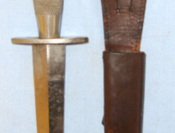 2nd Pattern, British Officer's, Nickel Plated, Fairbairn Sykes FS Fighting Knife  Other blades