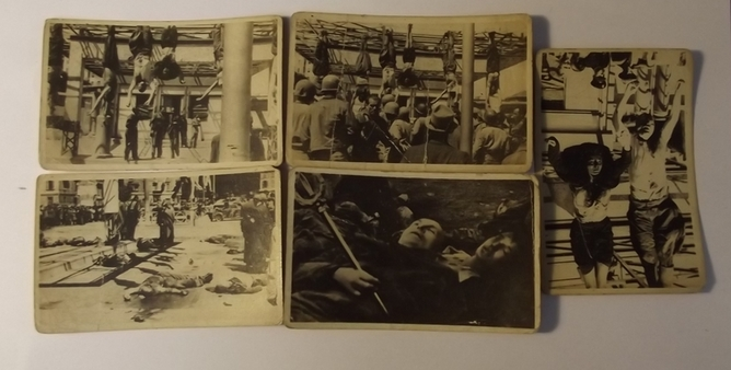 A Set Of Five B&W Photographs Of The Execution Of Benito Mussolini  Accessories