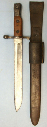 Canadian Ross Mark I, 1908 Patent, Bayonet with Stepped Back Muzzle Ring & Origi  Blades