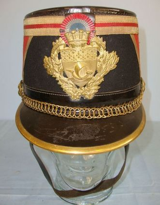 Ets Barrau Paris French Third Republic Republican Guard Model 1874 Shako By Barrau Paris With 'Pa Accessories