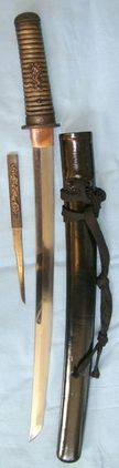 Ancient Blade C1500-1600 Koto Period Japanese Wakazashi Short Sword With Scabbar  Blades