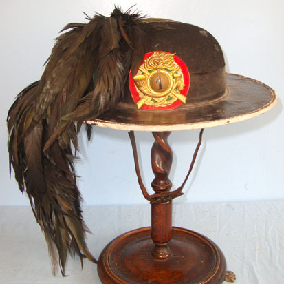 Bersaglieri Light Infantry Hat With 1st Bersaglieri Plate & Black Capercaillie F Bersaglieri Light Infantry Hat With 1st Bersaglieri Plate & Black Capercaillie F Accessories