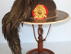 Bersaglieri Light Infantry Hat With 1st Bersaglieri Plate & Black Capercaillie F Bersaglieri Light Infantry Hat With 1st Bersaglieri Plate & Black Capercaillie F