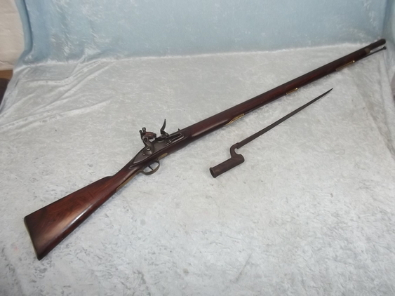First Indian Pattern Brown Bess Flintlock Musket and Bayonet  Rifles