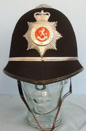Kent Constabulary Male Constable\'s / Sergeant\'s Blue Serge Helmet To Sgt 4016  Kent Constabulary Male Constable's / Sergeant's Blue Serge Helmet To Sgt 4016 Wi Accessories