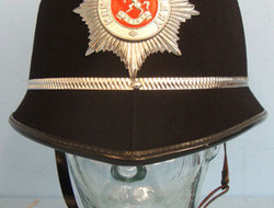 Kent Constabulary Male Constable\'s / Sergeant\'s Blue Serge Helmet To Sgt 4016  Kent Constabulary Male Constable's / Sergeant's Blue Serge Helmet To Sgt 4016 Wi