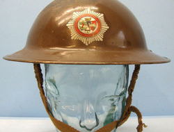 Tommy Helmet By FAI With Liner and Chinstrap. British Home Front,...