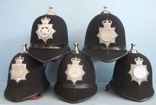 Police Male Constable\'s / Sergeant\'s Blue Serge Queen\'s Crown Helmets With Ba Police Male Constable's / Sergeant's Blue Serge Queen's Crown Helmets With Ball  Accessories