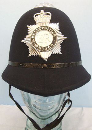 Metropolitan Police Male Constable's/ Sergeant's Blue Serge Police Helmet With H Metropolitan Police Male Constable's/ Sergeant's Blue Serge Police Helmet With H Accessories