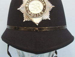 Metropolitan Police Male Constable's/ Sergeant's Blue Serge Police Helmet With H Metropolitan Police Male Constable's/ Sergeant's Blue Serge Police Helmet With H