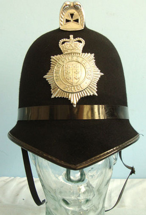Manchester & Salford Police Male Constable's / Sergeant's Blue Serge Helmet By C Manchester & Salford Police Male Constable's / Sergeant's Blue Serge Helmet By C Accessories