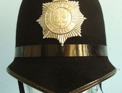 Manchester & Salford Police Male Constable's / Sergeant's Blue Serge Helmet By C Manchester & Salford Police Male Constable's / Sergeant's Blue Serge Helmet By C