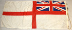 "White Ensign Ship's Flag (68""x32"") With Hanging Rope & Brass Fittings British Cloth Construction Royal Navy White Ensign Ship's Flag (68""x32"") With Ha for sale in United Kingdom"