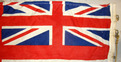 "White Ensign Ship's Flag (68""x32"") With Hanging Rope & Brass Fittings British Cloth Construction Royal Navy White Ensign Ship's Flag (68""x32"") With Ha for sale"
