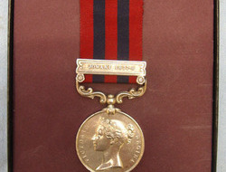 India General Service Medal With Jowaki 1877-8 Clasp To Nicholas Roads 4th Batta India General Service Medal With Jowaki 1877-8 Clasp To Nicholas Roads 4th Batta