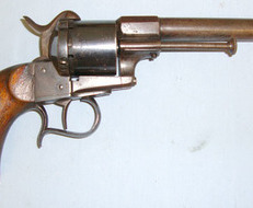 Lefaucheux Patent 12 mm Pin Fire Obsolete Calibre Single Action Revolver With Belgian Liege Marks  12 mm  Revolver