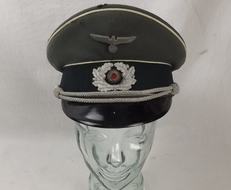 WW2 German Army 3rd Army Officer\'s Peaked Cap by G. Aschenneller of Munich